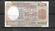 INDIA #79i 1985 UNC 2 RUPEES MINT OLD  BANKNOTE PAPER MONEY CURRENCY BILL NOTE