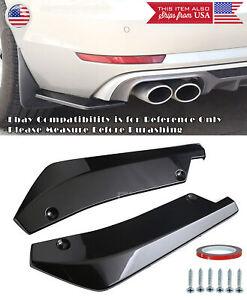 "17.5"" Black Bumper Splitter Winglet Diffusers Spats Valance Lip For Subaru Mazda"