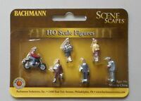 5 People Motorcycle BACHMANN SCENE SCAPES Miniature Diorama Model HO Scale 33101