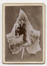 PHOTO Vintage Curiosité Surréalisme Fantaisie Feuille Montage Photomontage 1900