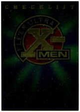 X-Men Fleer Ultra Checklist #100 Fleer Ultra X-Men Chrome Trade Card (C291)