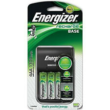 Energizer  Base  Charger for AAA AA Includes 4 AA 1300mAh Rechargeable