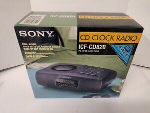 Sony ICF-CD820 AM/FM  CD player CLOCK RADIO BRAND NEW