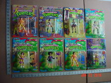 Set of 8 1990's TMNT April O'Neal Action Figures MOC Free US Shipping