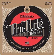 """D'Addario EJ45 Pro-Arte Normal Tensión (. 028 - .043) Guitarra Clásica """"s Cuerdas Set"""