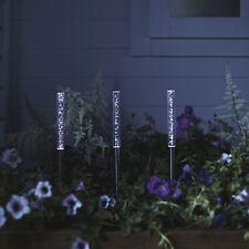 3er Set LED Solar Stableuchten Bubble Garten Leuchten Gartendeko Wegbeleuchtung