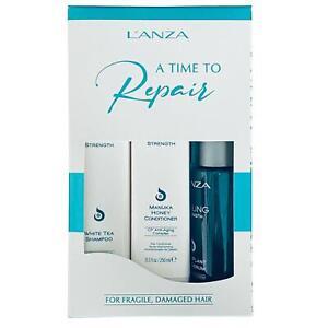L'Anza Healing Strength Set with Shampoo, Conditioner & Silk Serum