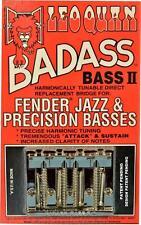 LEO QUAN® Badass Bass II 4-String Bass Bridge~Chrome~Fender P & J Bass~Brand New
