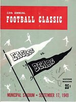 1949 (Sep.17) Pre-Season Football Program,Chicago Bears @ Philadelphia Eagles~Fr