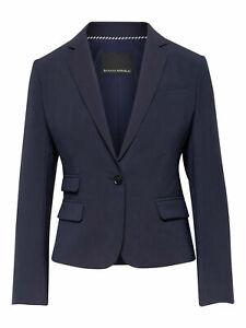 Banana Republic Fitted Crop Washable Italian Wool-Blend Blazer, NAVY SZ 12T 12 T