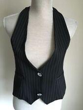 Waist Length Business Regular Striped Waistcoats for Women