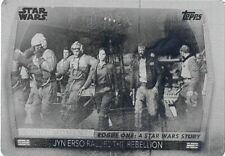 20 Women Of Star Wars Black Printing Plate Iconic Moments IM-12 Jyn Erso Rallies