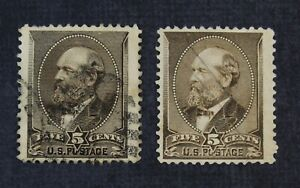 CKStamps: US Stamps Collection Scott#205 5c Garfield Used