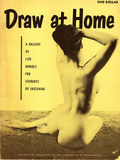 RARE BETTIE PAGE COVER DRAW at HOME 1952 Figure Model Studies June King magazine