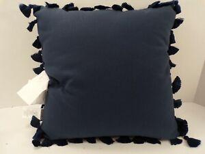 """Pottery Barn Trim Indoor Outdoor Pillow 18"""" Ink #8750"""