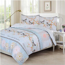 Latest Design Sweet Birds Printed Duvet Cover/Quilt with Pillowcase Size Double