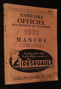 Annuaire officiel des abonnés au téléphone, 1961, Manche