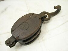 Antique Wooden Anchor Snatch Block Pulley Farm Tool Nautical ship sailing boat