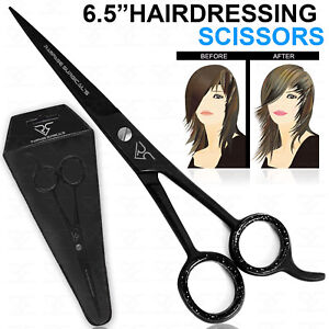 "PROFESSIONAL HAIRDRESSING SCISSORS 6.5"" BARBER SALON HAIR CUTTING RAZOR SHARP UK"