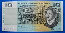 AUSTRALIAN UNC 1967 $10 COOMBS RANDALL R302 CRISP FLAT PAPER NOTE *HIGH VALUE*