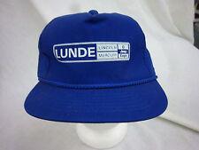 trucker hat baseball cap LUNDE LINCOLN JEEP retro snapback cool cloth rare 1980
