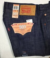 NWT Levi's 501 Mens 34 x 32 Shrink to Fit White Oak Cone Denim Jeans Button Fly