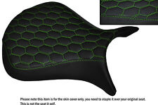 HEX DESIGN LGREEN STITCH CUSTOM FITS KAWASAKI NINJA ZX6R 07-08 FRONT SEAT COVER