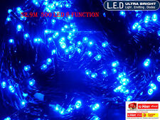 2x 52.9M 500LED BLUE CHASING CHRISTMAS FAIRY LIGHTS WITH 8 FUNCTIONS & MEMORY