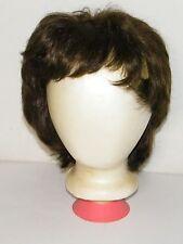 Vintage Short Wig Dark Brown Styled Dynel Made In Korea Sassy Cute