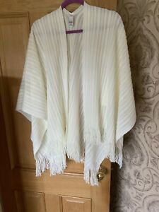 New Marks And Spencer Beautiful Shawl/Wrap Winter White