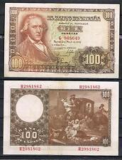 ESPAÑA 100 PESETAS 1948 FRANCISCO BAYEU Pick 137    MBC+   VF+