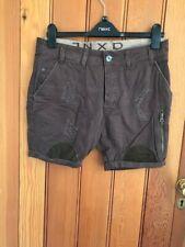 jinxd development brown denim shorts trashed distressed patched 29 waist bnwt