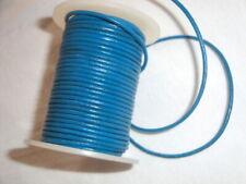 "2mm dark blue leather sun fishing driving glasses chain cord holder 16"""