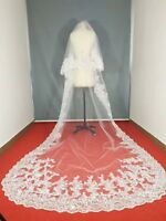 3M Wedding Veils Cathedral 2T Comb Bridal Veil Accessories Lace Applique Sequins