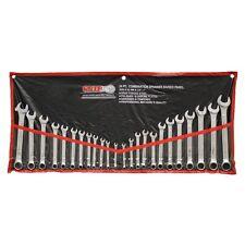 24 Piece Wrench Metric Mechanics Tool Set Ratcheting Garage Spanner Workshop New