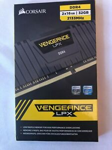 Corsair Vengeance 32GB 2x16GB PC4-17000 2133 MHz Desktop DDR4 CMK32GX4M2A2133C13