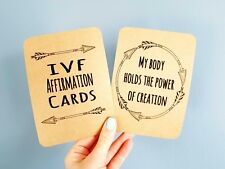 IVF affirmation cards x12 encouragement empower fertility journey positive