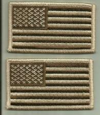 TWO USA FLAG DESERT PATCHES U.S.ARMY NAVY MARINE CORPS FIGHTER WARRIOR SOLDIER