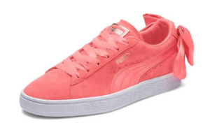 PUMA Suede Bow Bows Women's Trainers Shell Pink Coral no box