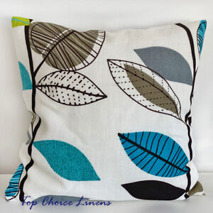 45 x 45cm Home Decorative Turquoise/Brown/Green Leaf Cushion Cover