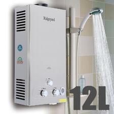 Ridgeyard 12L Warmwasserspeicher Durchlauferhitzer Gas Propan Warmwasserbereiter