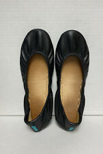 TIEKS by Gavrieli SIZE 5 Classic Matte Black Leather Ballet Flat Foldable Shoes
