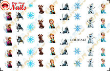 47pcs/Set Christmas Disney Frozen Waterslide Nails Decals Set of 47 DFR-002-47