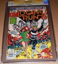 Logan's Run #1 CGC SS SIGNED George Clayton Johnson William Nolan Marvel 1977