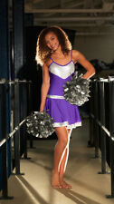 IN STOCK Cheer Leader Purple & Silver Lycra Dress Dance Costume 3 Adult Small