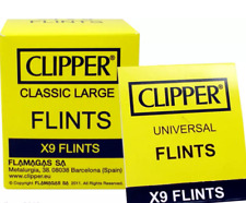 9 X Clipper Flints For All Types Clipper Zippo Petrol Lighters UNIVERSAL FLINTS