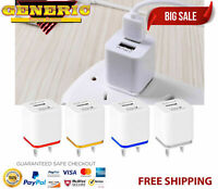 Wholesale Lot Dual USB Port Wall Charger Adapter US Plug For iPhone Samsung LG