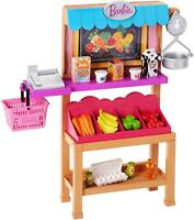 Barbie Grocery Stand Playset with Accessories FJB27