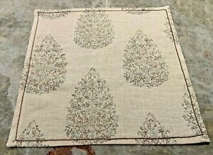 """Set of 17 Cloth Napkins, New, 13.5"""", Linen,Embroidery Stitching,Handmade In USA!"""