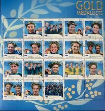 Australian Stamps: Athens Olympics 2004 Sheet - Australian Gold Medallists